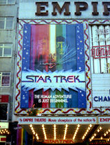 Star Trek sci-fi poster hoarding, Empire cinema, Leicester Square, 1979