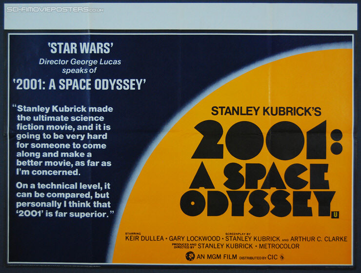 2001: A Space Odyssey (1968) Re-release 1980 - Original British Quad Movie Poster