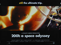 2001: A Space Odyssey (1968) Re-release - Original British Quad Movie Poster
