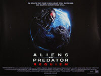 AVPR: Aliens vs Predator - Requiem (2007) - Original British Quad Movie Poster