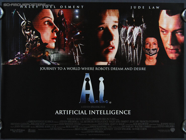 A I Artificial Intelligence 2001 Original British Quad Movie Film Poster