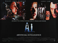 A I: Artificial Intelligence (2001) - Original British Quad Movie Poster