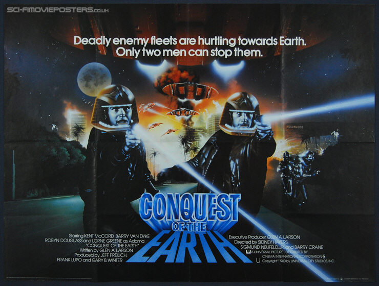 Conquest of the Earth (1980) - Original British Quad Movie Poster