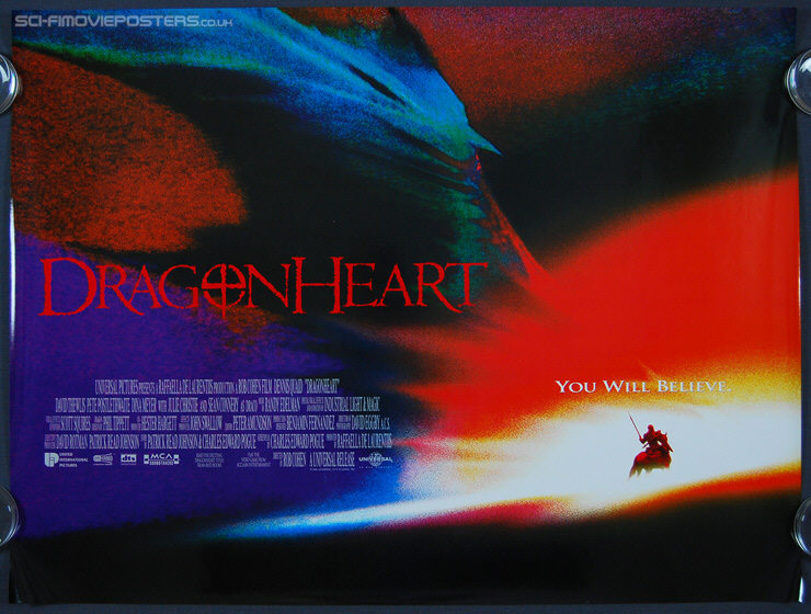Dragonheart (1996) - Original British Quad Movie Poster