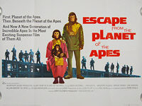Escape from the Planet of the Apes (1971) - Original British Quad Movie Poster