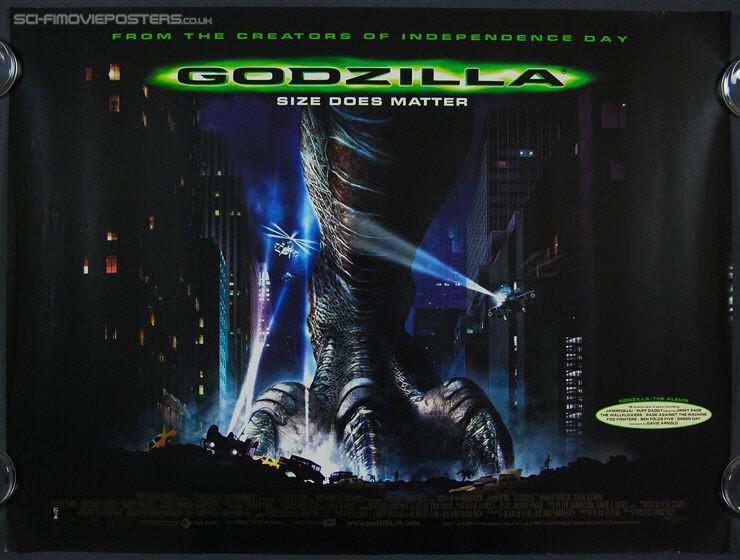 Godzilla (1998) - Original British Quad Movie Poster