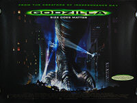 Godzilla (1998) - Original British Quad Movie Poster