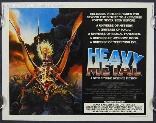 Heavy Metal 1981 Vintage Us Half Sheet Movie Poster