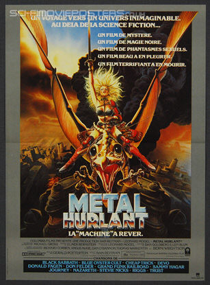 Heavy Metal 1981 Original French Movie Poster