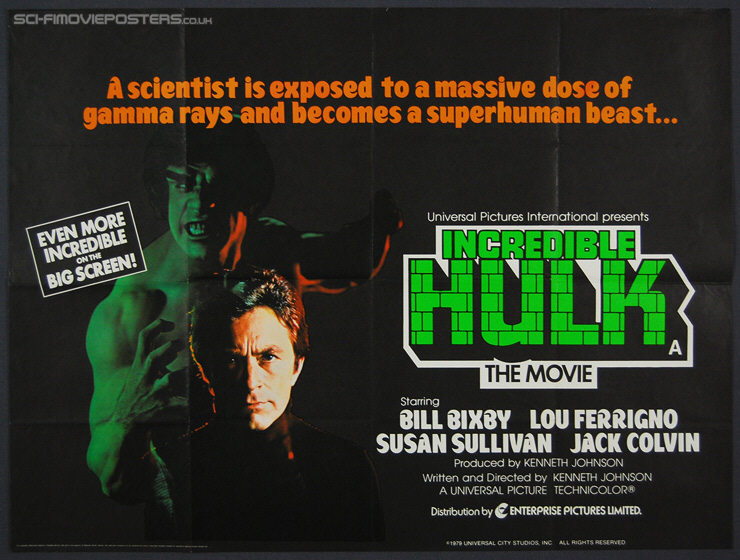 1979 Movie Posters: Incredible Hulk The Movie (1979)