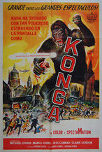 Konga (1961) - Original Argentinean One Sheet Movie Poster