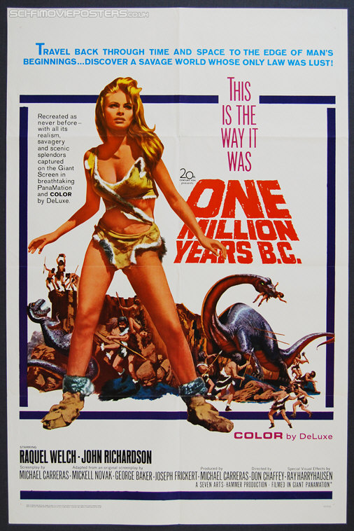 One Million Years B C (1966) - Original US One Sheet Movie Poster