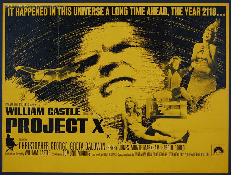 Project X (1968) - Original British Quad Movie Poster