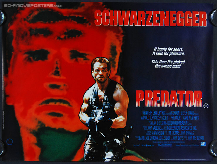 Predator (1987) - Original British Quad Movie Poster