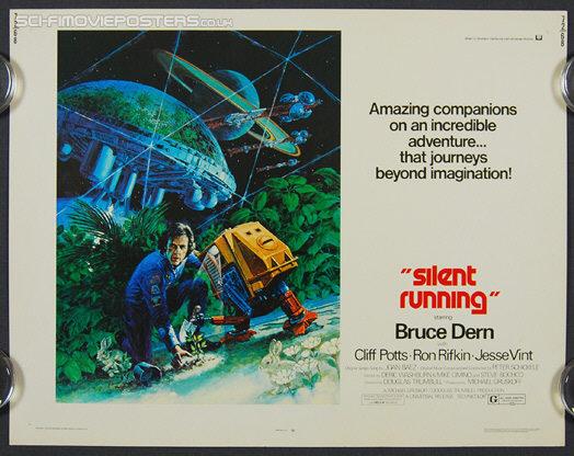 silent running 1972 original us half sheet movie poster