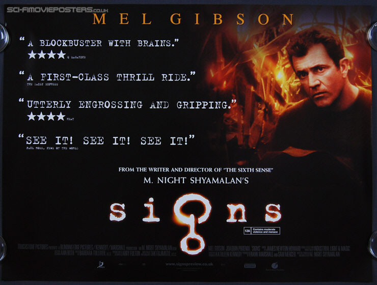 Signs (2002 ) 'Quotes' - Original British Quad Movie Poster