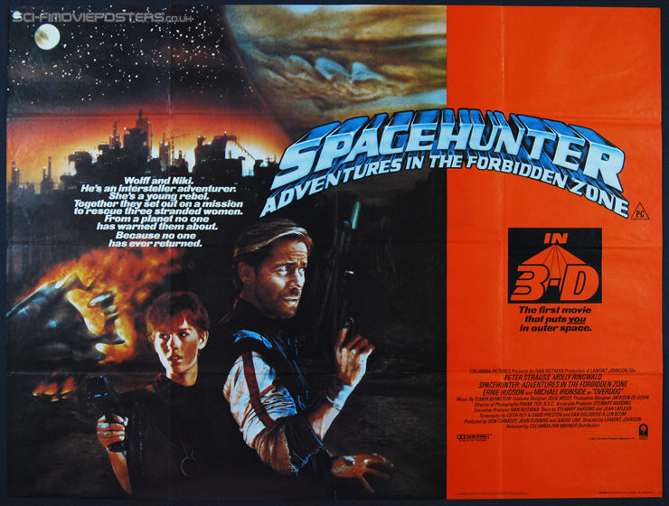 1983 Movie Posters: Spacehunter: Adventures In The Forbidden Zone Poster (1983