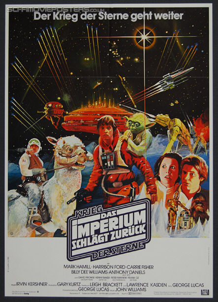 Star Wars: The Empire Strikes Back (1980) - Original French Movie Poster