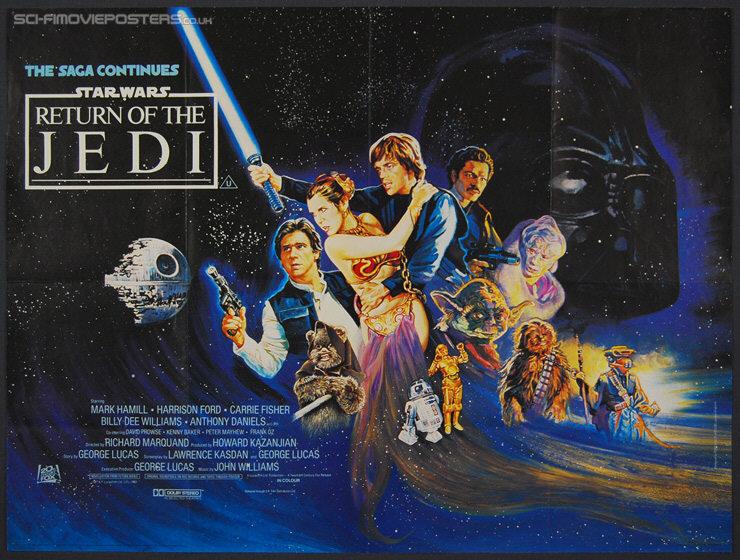 Star wars return of the jedi 1983 original british quad movie
