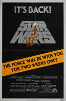 Star Wars (1977) Re-release 1981 - Original US One Sheet Movie Poster