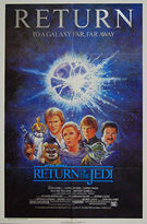 Star Wars: Return of the Jedi (1983) Re-release 1985 - Original US One Sheet Movie Poster