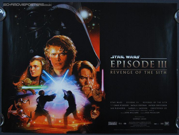 Star Wars Episode Iii Revenge Of The Sith 2005 Original British Quad Movie Poster