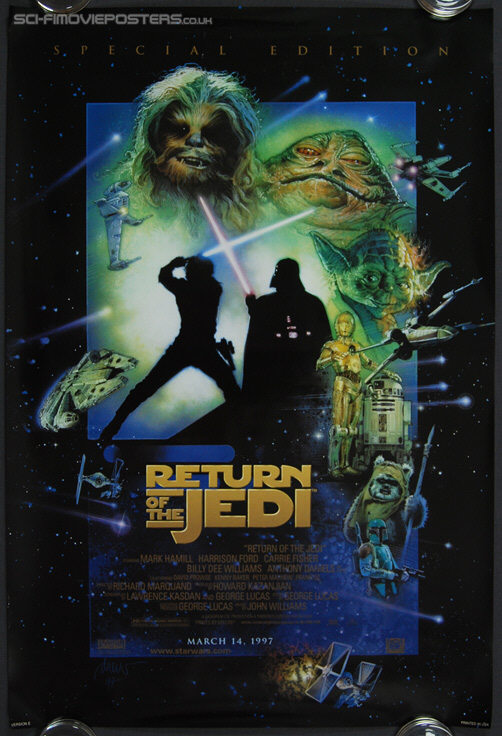 Star Wars: Return of the Jedi (1983) Special Edition 1997 'E' (March 14) - Original US One Sheet Movie Poster