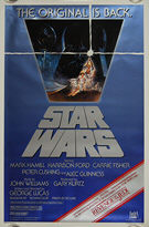 Star Wars (1977) Re-release 1982 (Revenge banner) - Original US One Sheet Movie Poster