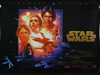 Star Wars (1977) Special Edition 1997 - Original British Quad Movie Poster