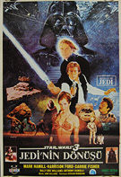 Star Wars: Return of the Jedi (1983) - Original Turkish Movie Poster
