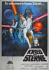 Star Wars (1977 - Original Large German Movie Poster