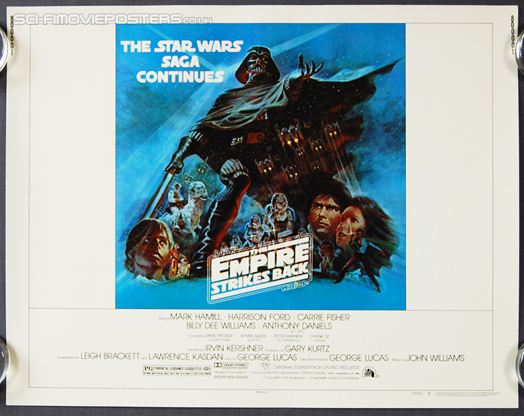 Star Wars: The Empire Strikes Back (1980) B - Original US Half Sheet Movie Poster