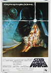 Star Wars (1977) - Tom Jung (1982) Original Japanese Hansai B2 Movie Poster