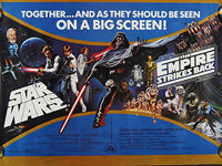 Star Wars / The Empire Strikes Back (1980) 'Together' - Original British Quad Movie Poster