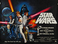 Star Wars (1977) - Original British Quad Movie Poster