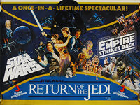 Star Wars/The Empire Strikes Back/Return of the Jedi (1983) - Original British Quad Poster