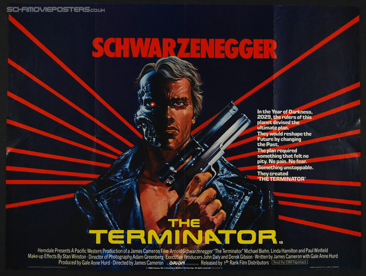 Terminator, The (1984) - Original British Quad Movie Poster