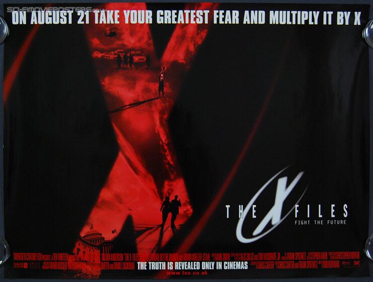 X Files The 1998 Original British Quad Movie Poster